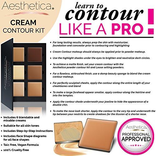 Aesthetica Cosmetics Cream Contour and Highlighting Makeup Kit ...