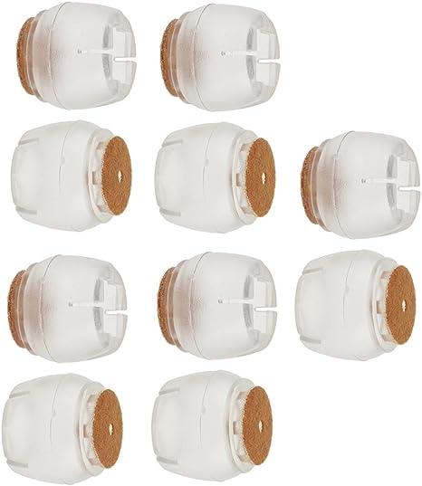 CUTICATE 20 Piezas Sillas Patas Cubiertas De Silicona Almohadillas Base Redonda 21-25mm