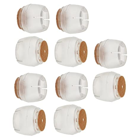 Magicdeal 10 Pieces Chair Leg Caps Silicone Table Covers Pads Round Base 45-50mm