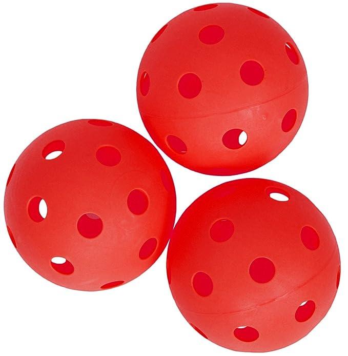 Spokey Turn Unihockey//Floorball 3er Pack Rot Ball