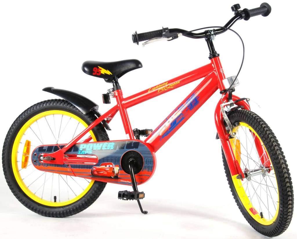 Bicicleta Niño Chico Disney Cars 3 18 Pulgadas Freno Delantero al Manillar y Trasero Contropedal Rojo 85% Montado: Amazon.es: Deportes y aire libre