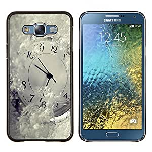 "Be-Star Único Patrón Plástico Duro Fundas Cover Cubre Hard Case Cover Para Samsung Galaxy E7 / SM-E700 ( Tiempo Metáfora Invierno Blancanieves Ticking"" )"