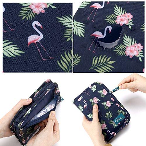 Hipiwe Multifunctional Passport Wallet Purse Hand-hold Printing Travel Passport Holder Case Money Ticket Organizer(Flamingo) by Hipiwe (Image #5)