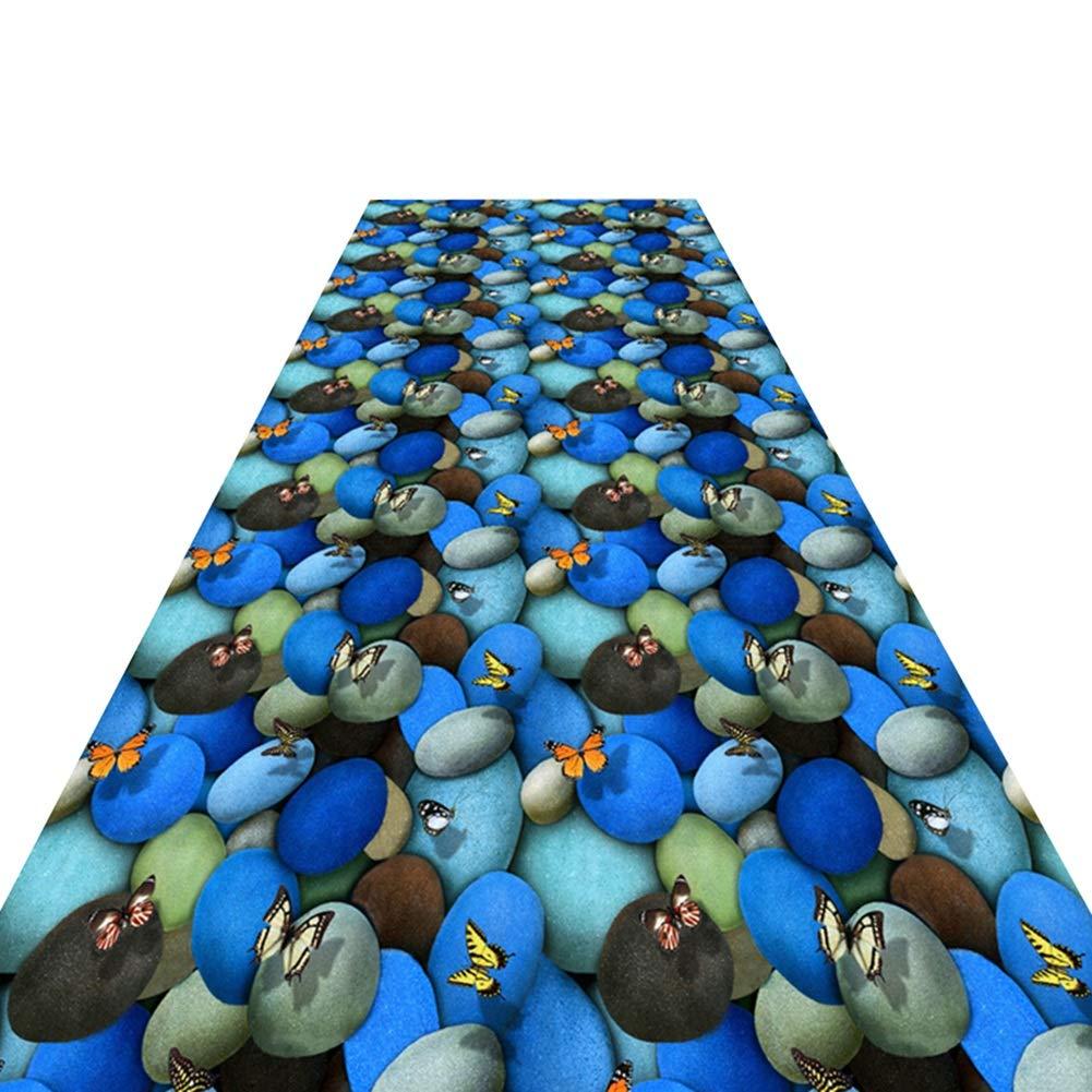 HAIPENG 廊下のカーペット滑り止め ランナー ラグ にとって 廊下 3D バタフライ エリアラグ エントランス マット エントリ 敷物 と ラバーバック カーペット 柔らかい (色 : A, サイズ さいず : 1.6x7m) 1.6x7m A B07MTDC5MG