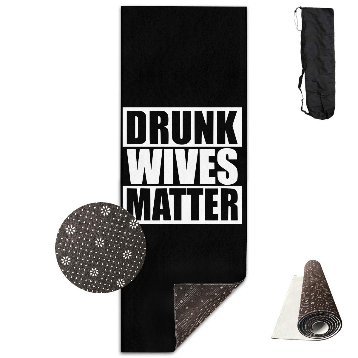 Amazon.com: Workout Mat for Yoga, Drunk Wives Matter Yoga ...