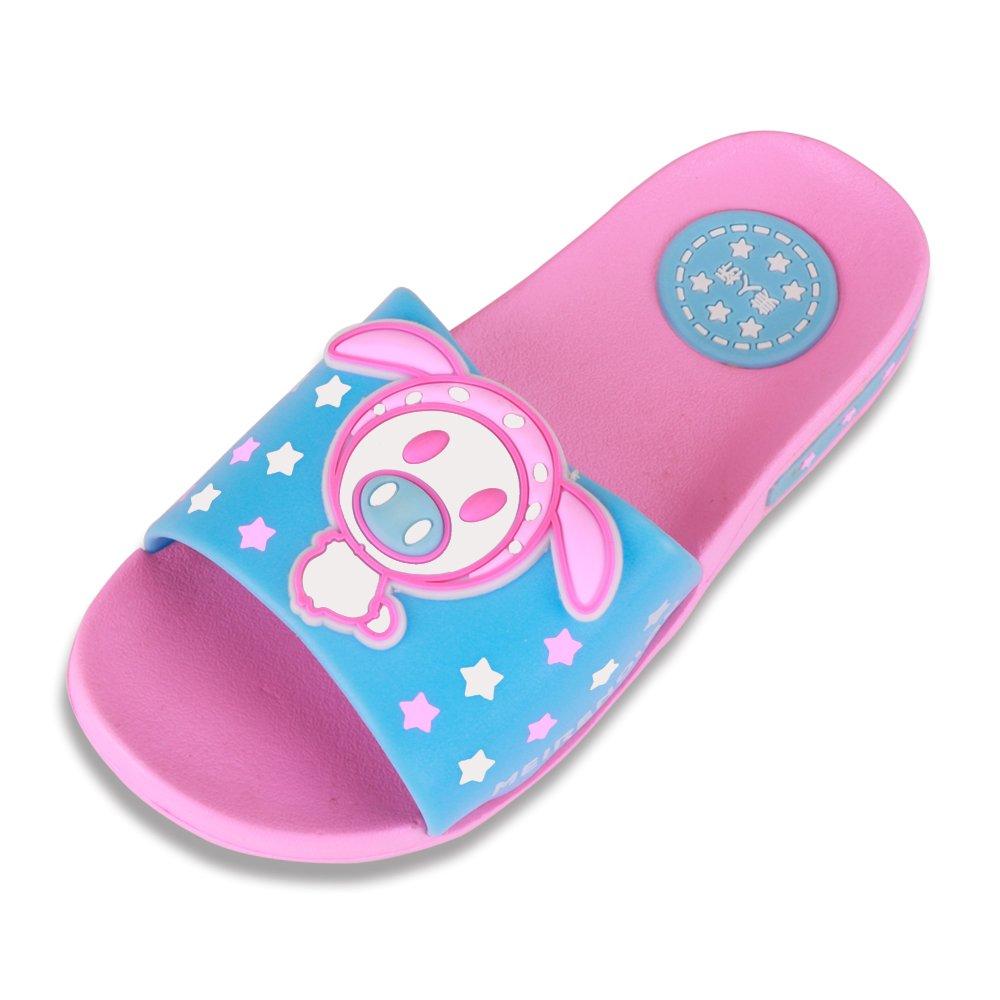 Cuby Summer Kid Shoes Antiskid Bathroom Home Indoor Slippers … (7M/26 US Toddler, Pink Pig)