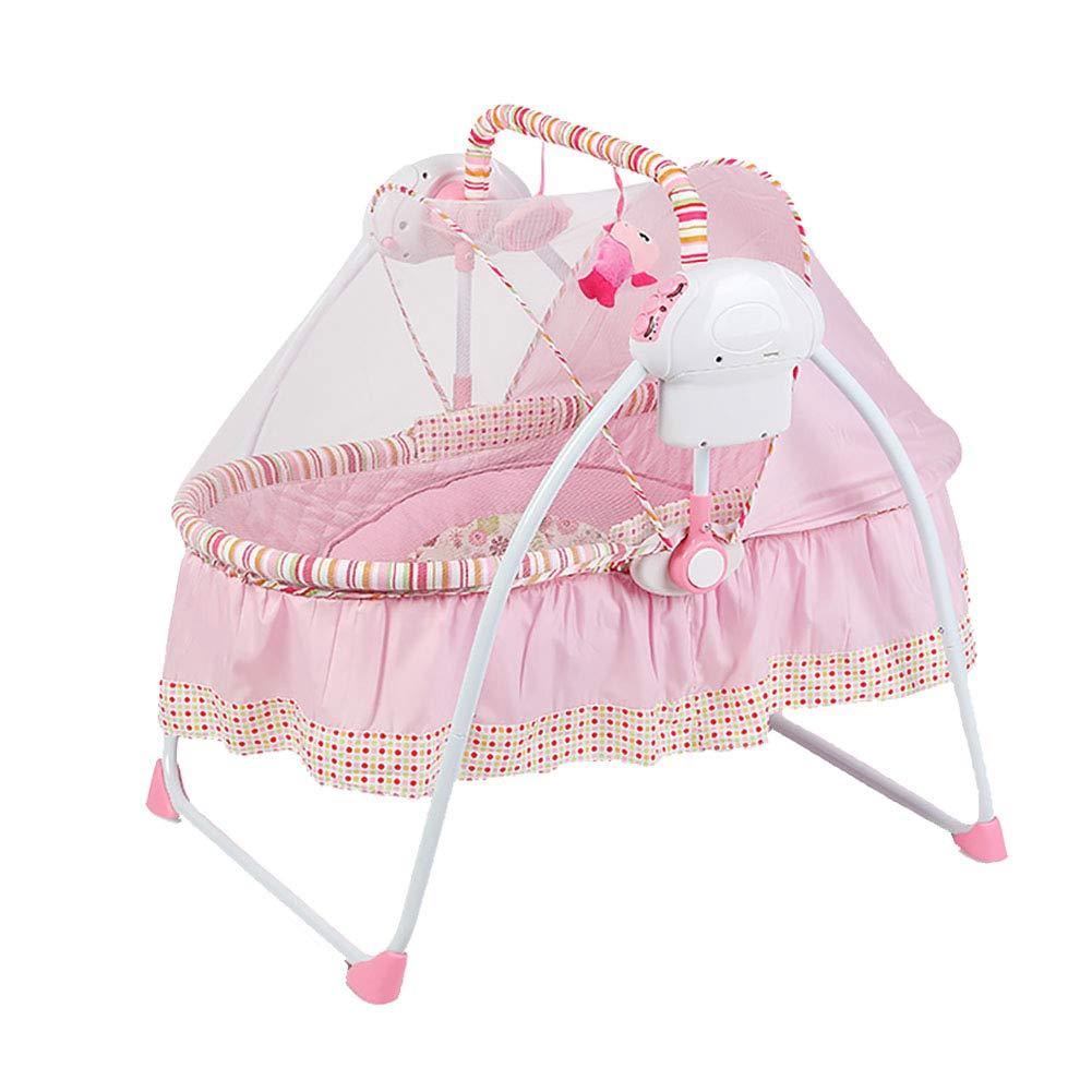 大人気定番商品 ALUP- Pink 電動スマート幼児バウンサーバランス幼児ロッカー赤ちゃん自動折りたたみシェーカー音楽コンフォートクレードルベッド (色 Pink) B07N4H9YVF : Pink) Pink B07N4H9YVF, インナーショップクレール:87015ea1 --- a0267596.xsph.ru