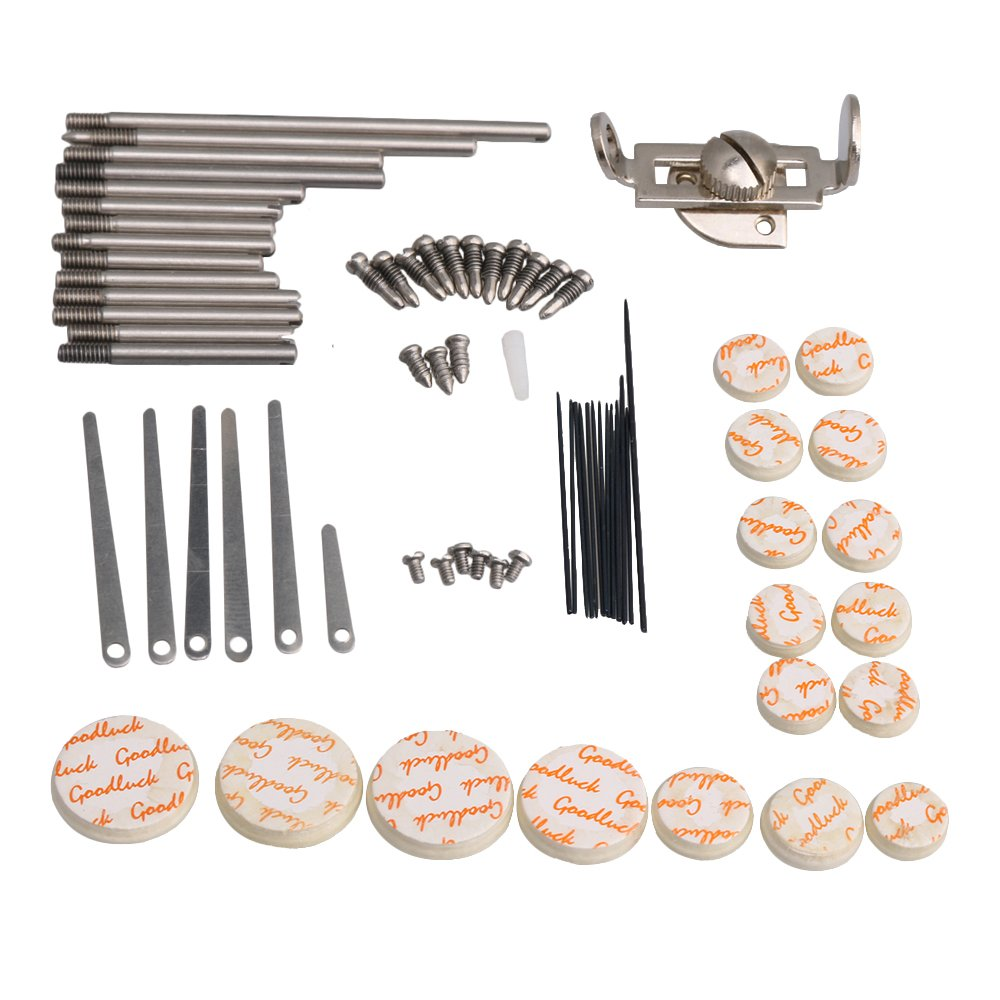 BQLZR Clarinet Repair Kit Reed Top Screw Finger Support Key Shaft Top Screw Reed Pin Wind Type A Musical Instrument Accessory