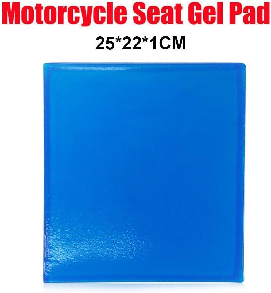 UEB Tappetino in Gel per Sedile Moto Tappetino per Assorbimento degli Urti Comodo Cuscino Morbido Blu 25x25x1cm