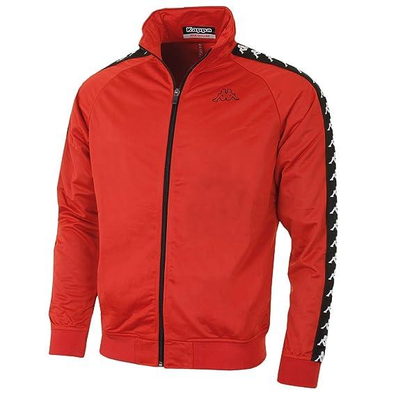 Kappa Hombre Anniston Slim 222 Banda Track Jacket, Rojo, X-Small: Amazon.es: Ropa y accesorios