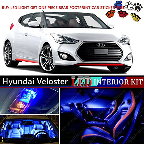 Amazon.com: 10pcs LED Premium Blue Light Interior Package Deal For Hyundai  Veloster 2011 2016: Automotive