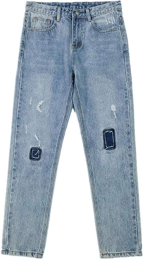 [Ksila]デニムパンツ メンズ ダメージ ジーンズ スキニー ストレッチ ジーパン ファッション スリム Gパン カジュアル 切り替え ズボン デニム ストリート系 パンツ
