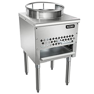 "Kitma 16"" Gas Wok Range - Commercial Natural Gas Cooking Performance Group - Restaurant Equipment, 110,000 BTU"
