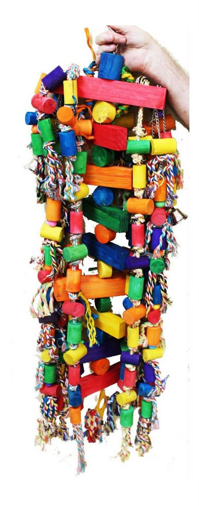1207 Huge Tower Chewer Parrot Bird Cage Toys Cages Toy Chew Macaw Cockatoo Big