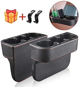 WYKFXF Car Seat Seam Wedge Cup Holder, Car Seat Gap Filler, Food Drink Bottle Mount Stand, Storage Organizer Multifunction Glove Box Car Accessories (2 Pieces)