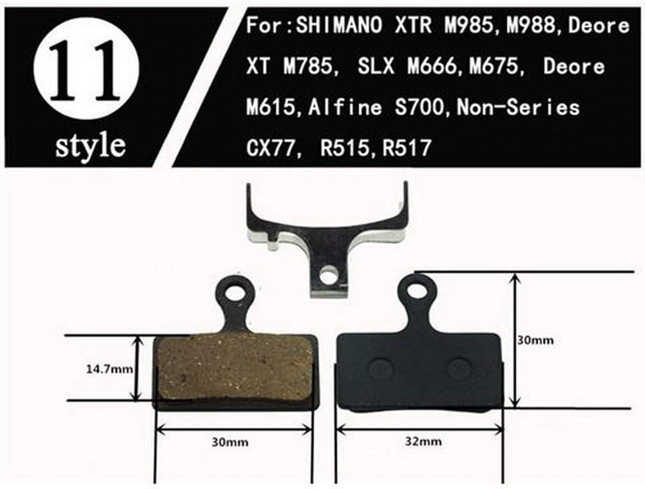 TR M785 2 coppie Pastiglie freno a disco idrauliche per mountain bike PER Shimano Deore M988 M985 XT Deore M615 Alfine S700 Pastiglie dei freni Pastiglie dei dischi SLX M666 M675