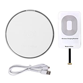 Asnlove Cargador Inalámbrico Quick Wireless Charger Pad Rápido Qi Wireless Carga para Samsung S6/S6 Edge LG Google Nexus 7/6/5/4 Nokia Blackberry Z30 ...