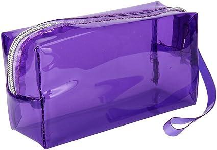 Fossrn Plastico Estuches Transparentes de Colores Grandes Estuche de Lápices (Morado): Amazon.es: Oficina y papelería