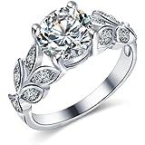 Crunchy Fashion Paradiso Glitz Collection Premium Swiss Zircon CZ Ring for Girls & Women