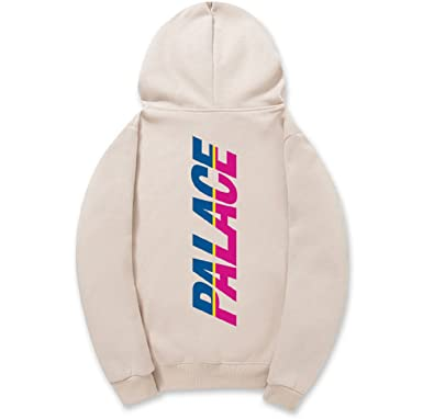 5d6518604962 Image Unavailable. Image not available for. Color  CORIRESHA Street Fashion  Two-Tune Logo Print Fleece Drawstring Hooded Sweatshirt