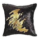 Mermaid Pillow Case, Play Tailor Magic Reversible Sequin Pillow Cover Throw Cushion Case 40x40CM