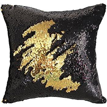 Amazon Com Livedeal Reversible Sequins Mermaid Pillow