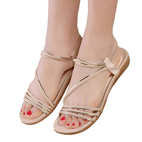 a53cfeabf53d4f Fullkang Women Flat Shoes Fashion Bohemia Leisure Lady Sandals Outdoor Shoes  (US 5