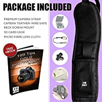 HiiGuy Camera Strap DSLR Nikon l Canon,Extra Long Neck Strap with Quick Release,Safety Tether, DSLR Included eBook and 3 Year Warranty - (2019 Version) by HiiGuy