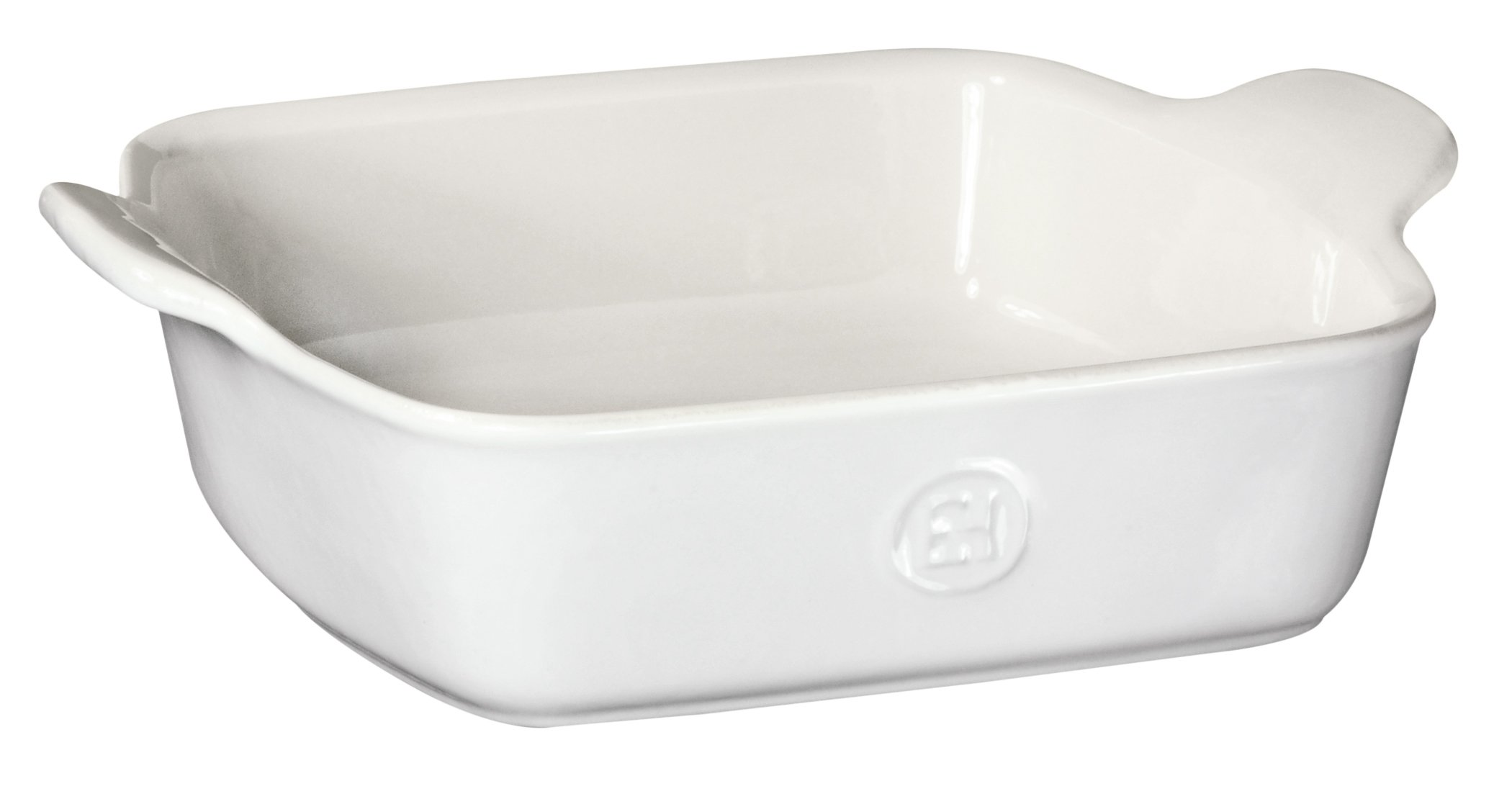 Emile Henry Made In France HR Modern Classics Square Baking Dish 8 x 8''/2 Qt, White