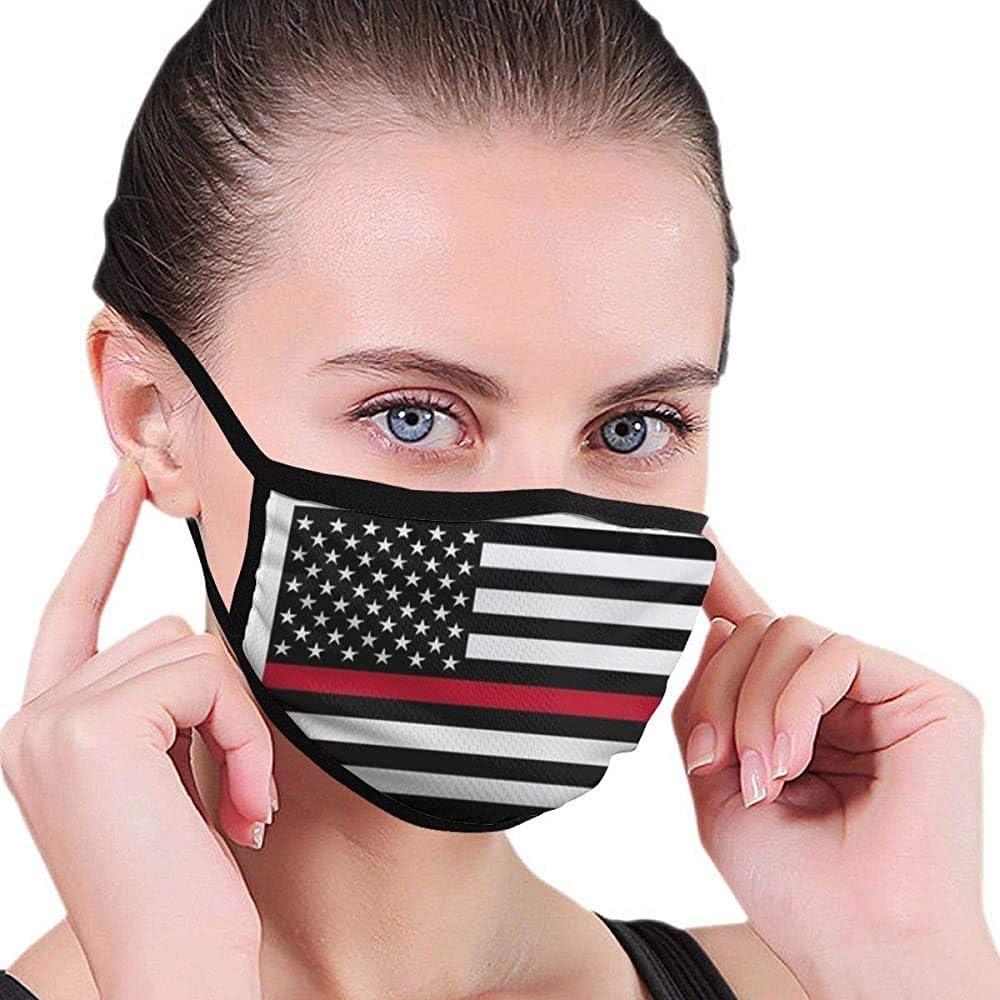 Bombero Red Line Flags.jpg Máscara Máscara de diseñador de Boca Máscara Máscara Lavable de Belleza Máscara Lavable y Reutilizable con Banda elástica para el oído