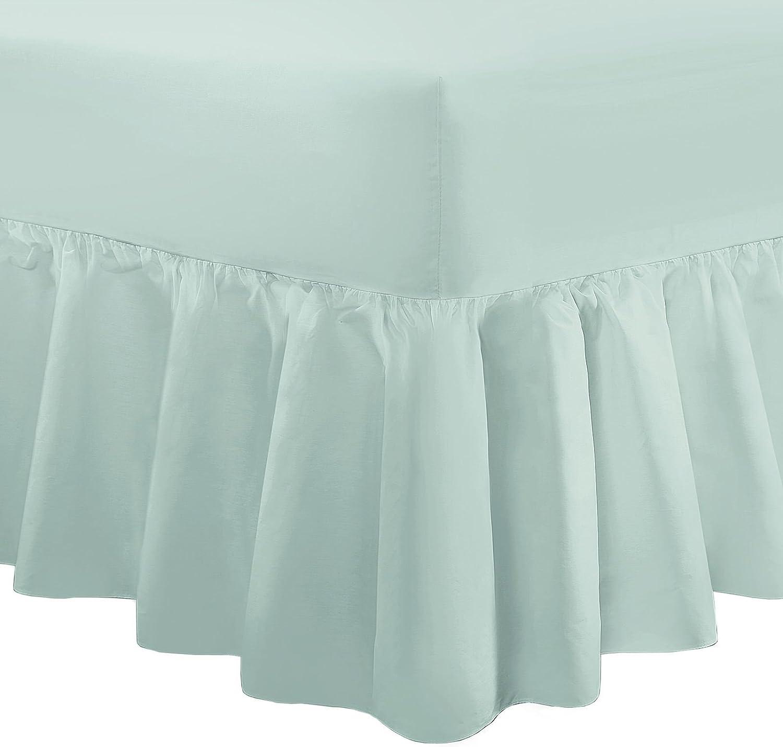 100/% cotone percalle Doppio White Mantovana giroletto tinta unita