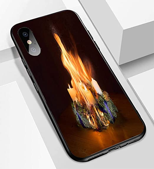 the latest 9c885 300a9 Amazon.com: iPhone X/XS Ultra-Thin Glass Back Phone case,Advent ...