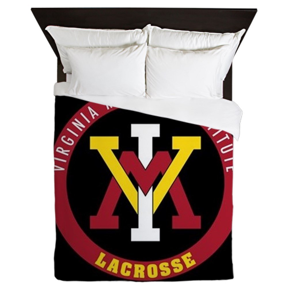 CafePress VMI Virginia Military Institute Cadets Lacrosse - Queen Duvet Cover, Printed Comforter Cover, Unique Bedding, Microfiber