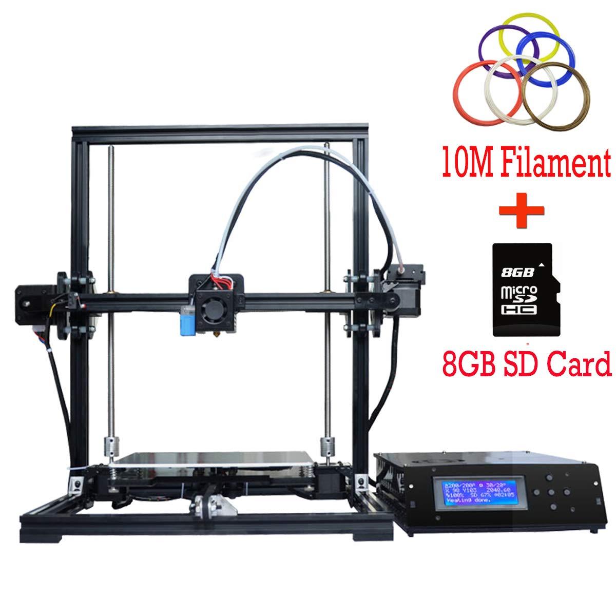 Impresora 3D Aluminum Prusa i3 3D Printer DIY con MK8 actualizada Extrusor Pantalla LCD de capa té rmica Má quina de autoensamblaje DIY 3D DMYCO X3A