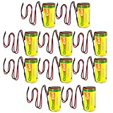 10x OmniCel ER26500HD 3.6V Sz C Lithium Battery Wire Leads Utility Telematics