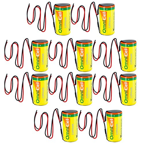 10x OmniCel ER26500HD 3.6V Sz C Lithium Battery Wire Leads Utility Telematics by Exell Battery