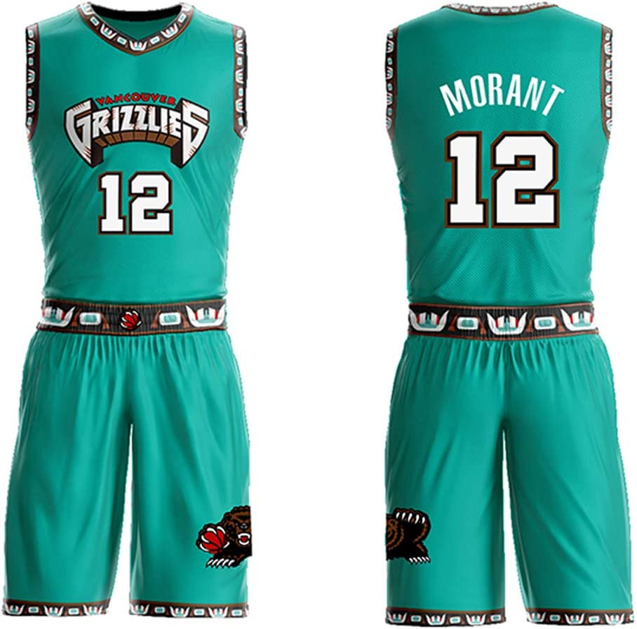 Mens basketball jersey suit Morant Memphis Grizzlies No fan jersey 12 player competition jersey