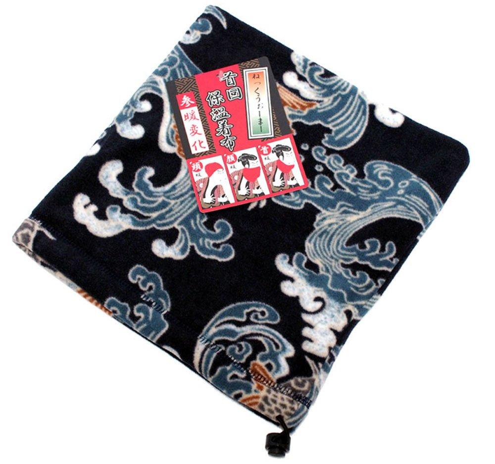 Marukawa Jeans Power Jeans Value Men's Fleece Neck Gaiter Wagara Neck Warmer Dragon) 4473
