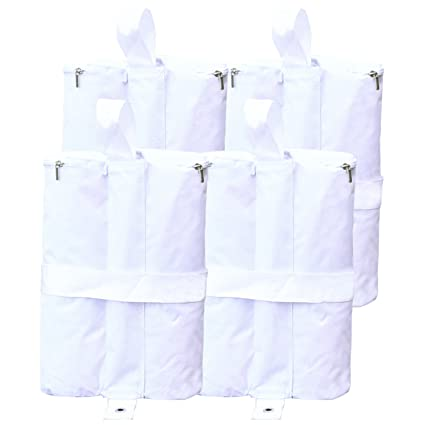0ff913fd826f ABCCANOPY Outdoor Pop Up Canopy Tent Gazebo Weight Sand Bag Anchor Kit-4  Pack (Double, White)