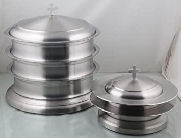 Amazoncom Holy Communion 3 Stainless Steel Communion Trays With 1