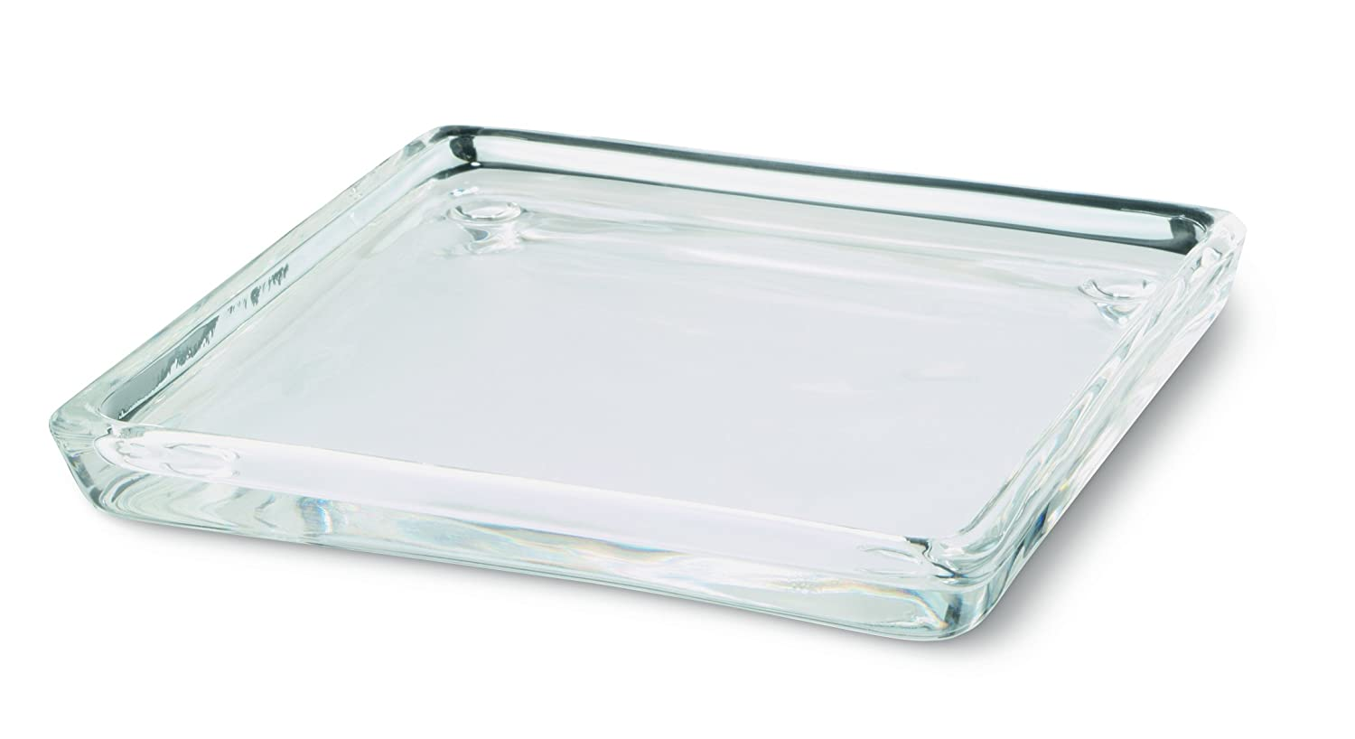 Bolsius Rectangle Candle Plate Glass Clear