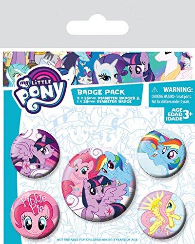 My Little Pony Paquete de chapas - Pinkie Pie, 1 x 38 mm & 4 ...
