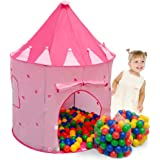 Spielset Kinderspielzelt Shanti inkl. 200 Bällebadbällen | Spielzelt Spielhaus für Mädchen | Kinder-Bällebad-Zelt mit Spielbällen | inkl. Tragetasche