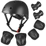 KAMUGO Kids Bike Helmet, Toddler Helmet for Ages 2-8 Boys Girls with Sports Protective Gear Set Knee Elbow Wrist Pads for Ska