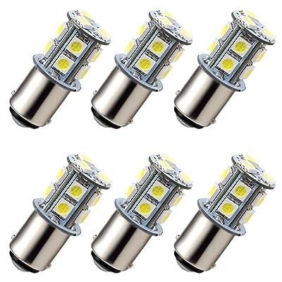 GRV Ba15d 1142 1076 1176 High Bright Car LED Bulb 13-5050SMD AC/DC 12V~24V Cool White Pack of 6: Automotive
