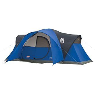 This best family tent photo shows the Coleman 8-person Montana Tent.