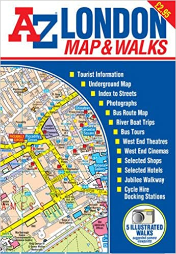 london map walks street maps atlases amazoncouk geographers a z map company 9781843480297 books