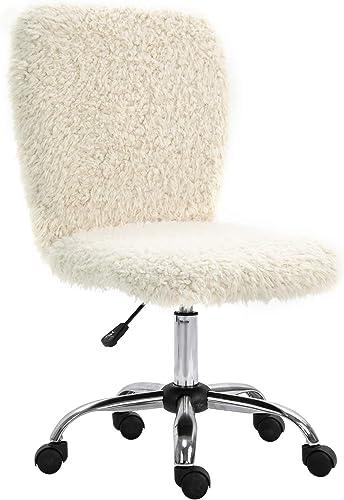 KERMS Faux Fur Office Chair