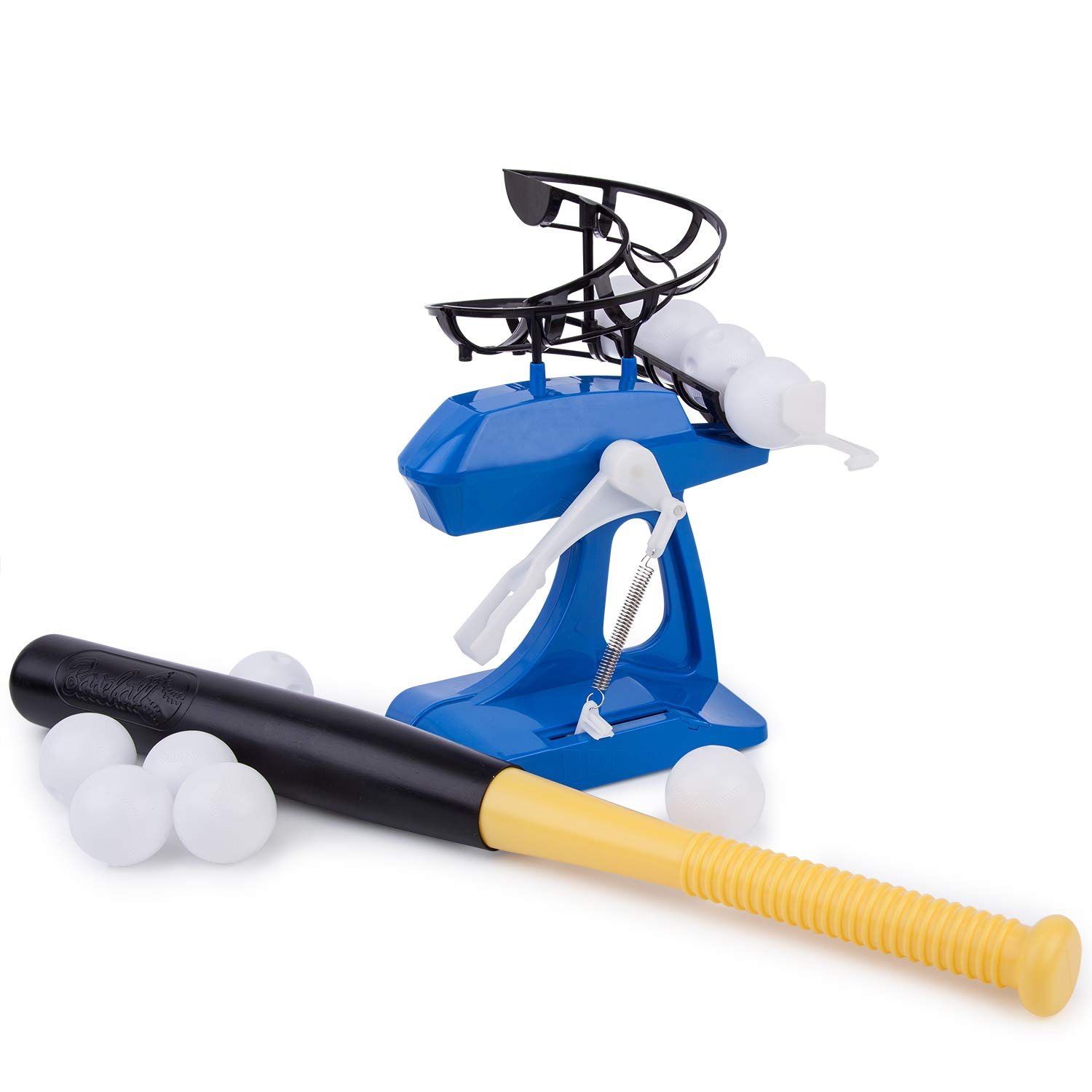 Liberry Outdoor Baseball Pitching Machine Toy, Baseball Training for Kids, Batting Practice Equipment, Toddler Baseball Traning, Early Educational, Exercising and Training. Including 10 Balls & a Bat by Liberry
