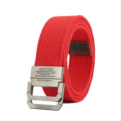 YUANZYYD Cinturón De Lona,Cinturón De Lona Rojo para Hombres Y ...